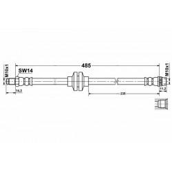 0455 elastyczny przewód hamulcowy OEM: 462107573R