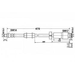 1102 elastyczny przewód hamulcowy OEM: 46786431 Citroen Jumper Fiat Ducato Peugeot Boxer przód