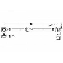 1758 elastyczny przewód hamulcowy OEM: 90445764