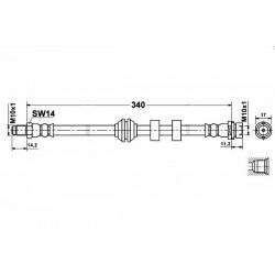 2519 elastyczny przewód hamulcowy OEM: 1068964