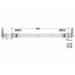 2516 elastyczny przewód hamulcowy OEM: 1044504