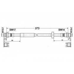 2520 elastyczny przewód hamulcowy OEM: 7335770