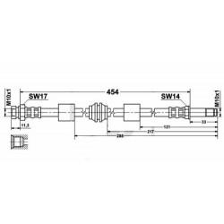 2522 elastyczny przewód hamulcowy OEM: 7335771