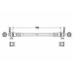2824 elastyczny przewód hamulcowy OEM: 562302 Opel corsa C tył