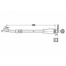 2834 elastyczny przewód hamulcowy OEM: 562302 Opel Corsa C, Combo Tigra 2 przód