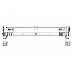 3703 elastyczny przewód hamulcowy OEM: 115595621 Skoda Favorit tył
