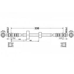 4600 elastyczny przewód hamulcowy OEM: 701611701