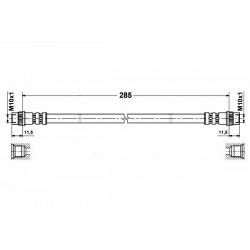 4637 elastyczny przewód hamulcowy OEM: 7704003765