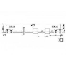 4714 elastyczny przewód hamulcowy OEM: 34321159891 BMW E34 E32 E31 przód