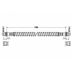 4644 elastyczny przewód hamulcowy OEM: 480661  Citroen Saxo Peugeot 106 S2 tył