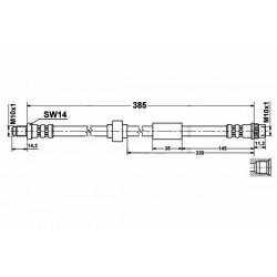 4639 elastyczny przewód hamulcowy OEM: 7700811705 Opel Vivaro Renault Traffic 2 przód