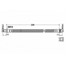 0221 elastyczny przewód hamulcowy OEM: 4412727 Opel Vivaro Renault Traffic tył
