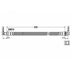 0221 elastyczny przewód hamulcowy OEM: 4412727