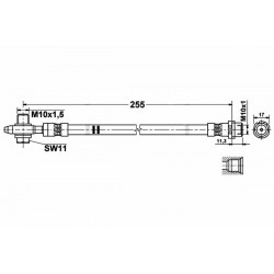 0359 elastyczny przewód hamulcowy OEM: 1K0611775C