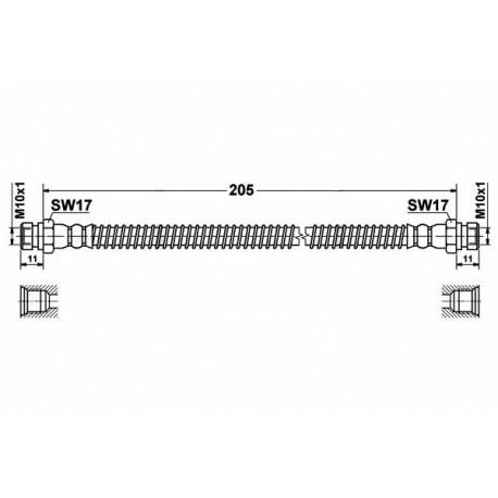 0214 elastyczny przewód hamulcowy OEM: 7701057740