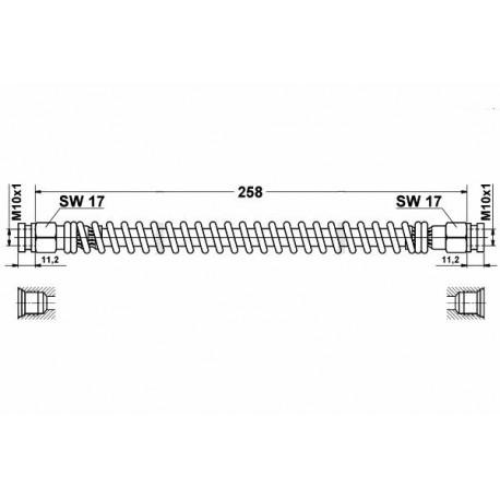 0231 elastyczny przewód hamulcowy OEM: 1223474