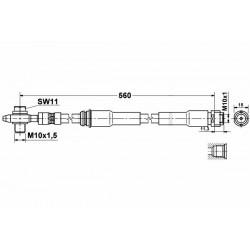 Audi S3 TT QUATTRO  zestaw przewodów hamulcowych elastycznych teflonowych w oplocie stalowym