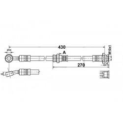 0088 elastyczny przewód hamulcowy OEM: 9204000 Suzuki Ignis II przód