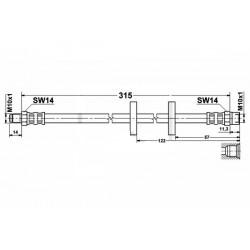 1716 elastyczny przewód hamulcowy OEM: 171611701G Golf 2 przód