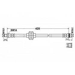 RENAULT CLIO 2 - zestaw przewodów hamulcowych elastycznych teflonowych w oplocie stalowym