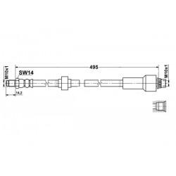 Citroen C1 zestaw przewodów hamulcowych elastycznych gumowych