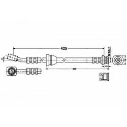 Zestaw przewodów hamulcowych elastycznych Daewoo Lanos