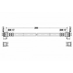 Fiat Punto I Komplet przewodów hamulcowych elastycznych  ( 2 sztuki przód i 2 sztuki tył )