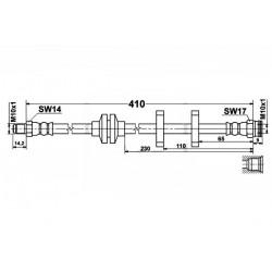 Fiat Seicento - zestaw przewodów hamulcowych elastycznych