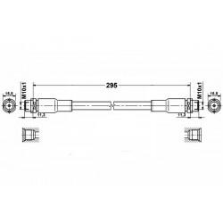 AUDI A4 B5 zestaw przewodów hamulcowych elastycznych teflonowych w oplocie stalowym