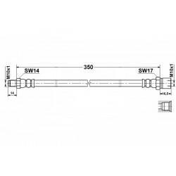 1683 elastyczny przewód hamulcowy OEM: 113611701