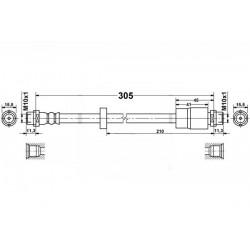 Fiat Seicento - Zestaw przewodów hamulcowych elastycznych w oplocie