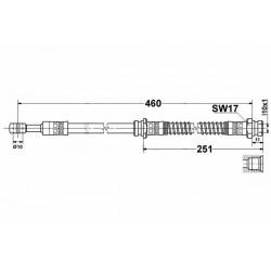 Volvo S40 / V40 komplet przewodow hamulcowych elastycznych