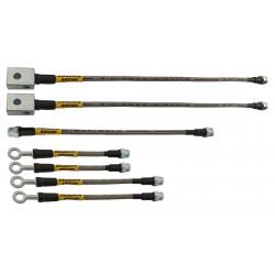 NISSAN PATROL G60 zestaw przewodów hamulcowych elastycznych teflonowych w oplocie stalowym