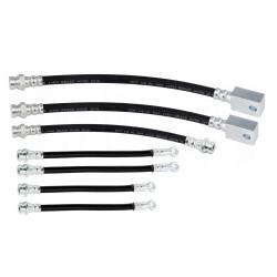 NISSAN PATROL GU4 +LIFT  zestaw przewodów hamulcowych elastycznych gumowych