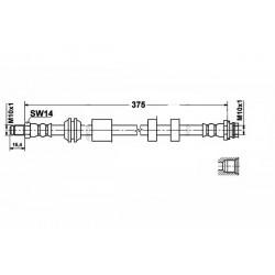 9090 elastyczny przewód hamulcowy OEM: 30683623 Volvo S60 2 przód