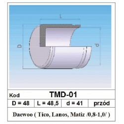Tłoczek hamulcowy 48/48,5/41 TMD-01